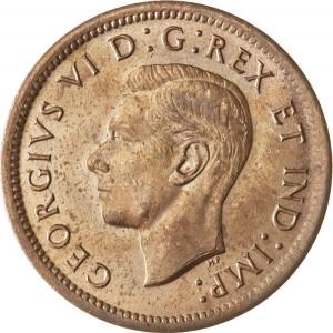 Canada 1937 1 Cent – George VI Coin  (Small) Obverse