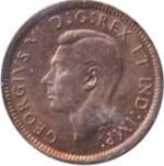 Canada 1945 1 Cent – George VI Coin  (Small) Obverse