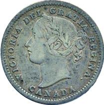 Canada 1858 10 Cents – Victoria Coin Obverse