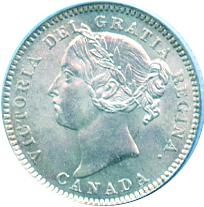 Newfoundland 1880 10 Cents – Victoria Coin Obverse
