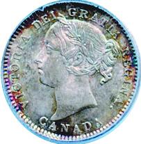 Canada 1881 10 Cents – Victoria Coin Obverse