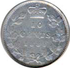 Canada 1884 10 Cents – Victoria Coin Reverse