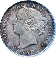 Canada 1894 10 Cents – Victoria Coin Obverse