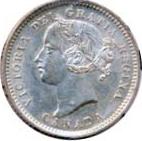 Canada 1899 10 Cents – Victoria Coin Obverse