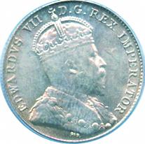 Canada 1902 10 Cents – Edward VII Coin Obverse