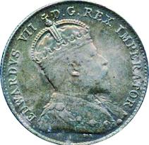 Canada 1903 10 Cents – Edward VII Coin Obverse