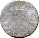 Canada 1904 10 Cents – Edward VII Coin Reverse