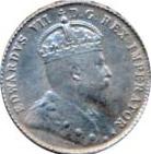 Canada 1907 10 Cents – Edward VII Coin Obverse