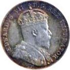 Canada 1910 10 Cents – Edward VII Coin Obverse