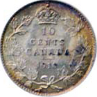 Canada 1910 10 Cents – Edward VII Coin Reverse