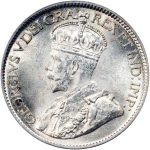 Canada 1921 10 Cents – George V Coin Obverse