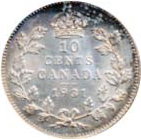 Canada 1931 10 Cents – George V Coin Reverse