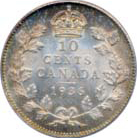 Canada 1936 10 Cents – George V Coin Reverse