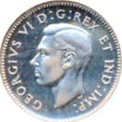 Canada 1946 10 Cents – George VI Coin Obverse