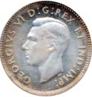 Canada 1947 10 Cents – George VI Coin Obverse