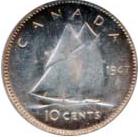 Canada 1947 10 Cents – George VI Coin Reverse