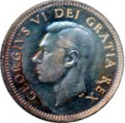 Canada 1951 10 Cents – George VI Coin Obverse