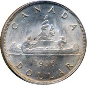 Canada 1936 1 Dollar – George V Coin Reverse