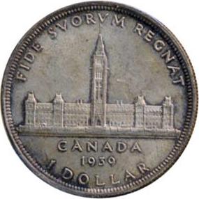 Canada 1939 1 Dollar – George VI Coin Reverse