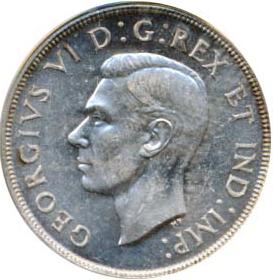 Canada 1947 1 Dollar – George VI Coin Obverse