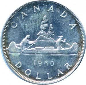 Canada 1950 1 Dollar – George VI Coin Reverse