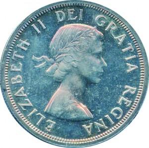Canada 1953 1 Dollar – Elizabeth II Coin Obverse
