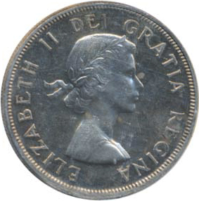 Canada 1954 1 Dollar – Elizabeth II Coin Obverse