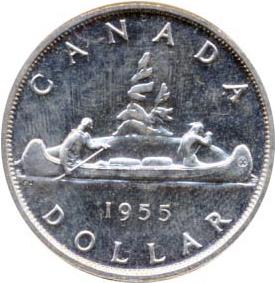 Canada 1955 1 Dollar – Elizabeth II Coin Reverse