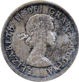 Canada 1958 1 Dollar – Elizabeth II Coin Obverse