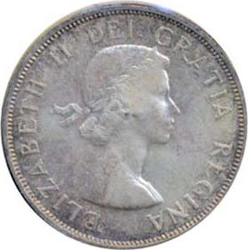 Canada 1961 1 Dollar – Elizabeth II Coin Obverse