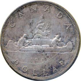 Canada 1961 1 Dollar – Elizabeth II Coin Reverse