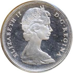 Canada 1965 1 Dollar – Elizabeth II Coin Obverse