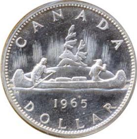 Canada 1965 1 Dollar – Elizabeth II Coin Reverse
