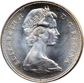 Canada 1967 1 Dollar – Elizabeth II Coin Obverse