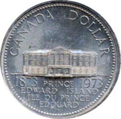 Canada 1973 1 Dollar – Elizabeth II Coin Reverse