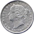 New Brunswick 1862 10 Cents – Victoria Coin Obverse
