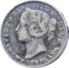 Newfoundland 1870 10 Cents – Victoria Coin Obverse