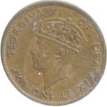 Newfoundland 1940 1 Cent – George VI Coin  (Small) Obverse