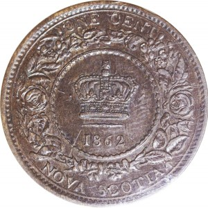 Nova Scotia 1862 1 Cent – Victoria Coin Reverse