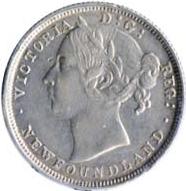 Newfoundland 1882 20 Cents – Victoria Coin Obverse