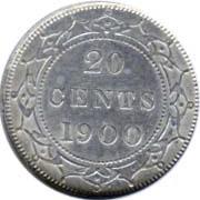 Newfoundland 1900 20 Cents – Victoria Coin Reverse