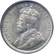 Newfoundland 1912 20 Cents – George V Coin Obverse