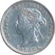 Canada 1899 25 Cents – Victoria Coin Obverse