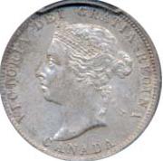 Canada 1900 25 Cents – Victoria Coin Obverse