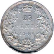 Canada 1900 25 Cents – Victoria Coin Reverse