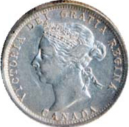 Canada 1901 25 Cents – Victoria Coin Obverse