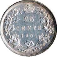 Canada 1901 25 Cents – Victoria Coin Reverse