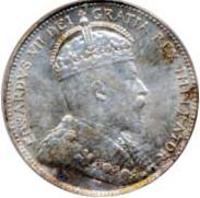 Canada 1907 25 Cents – Edward VII Coin Obverse