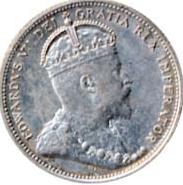 Canada 1909 25 Cents – Edward VII Coin Obverse