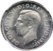 Canada 1939 25 Cents – George VI Coin Obverse